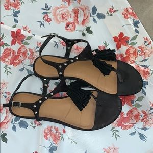 Mossimo Supply Co. Shoes - Black sandals with tassels